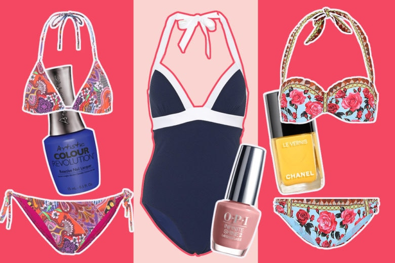 Come abbinare smalti e costumi: 10 idee per un look da spiaggia mix & match