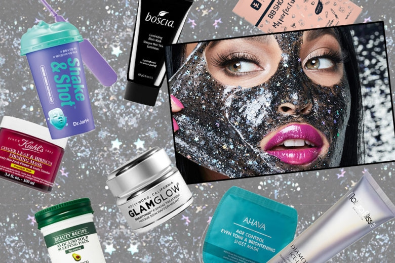 Maschere viso in tessuto con glitter, total black o peel off, tutte da provare