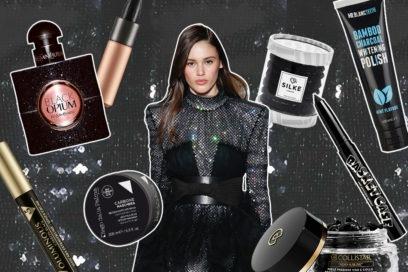 I prodotti di bellezza neri per un per beauty case da dark lady