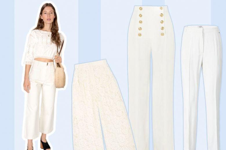 10 pantaloni bianchi per l'estate