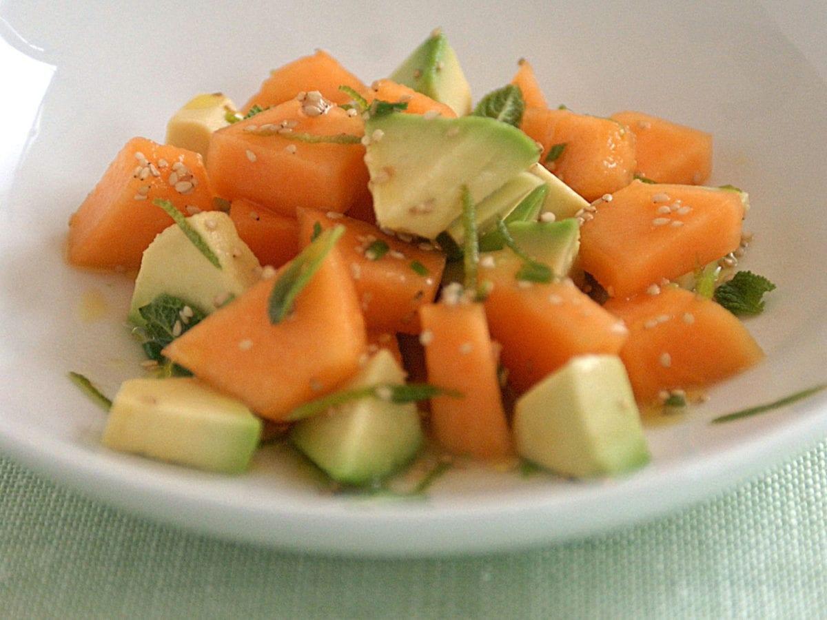 Insalata esotica con melone e avocado(1)