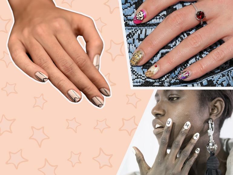 Logo nails e scritte delle unghie: la nuova tendenza per la manicure