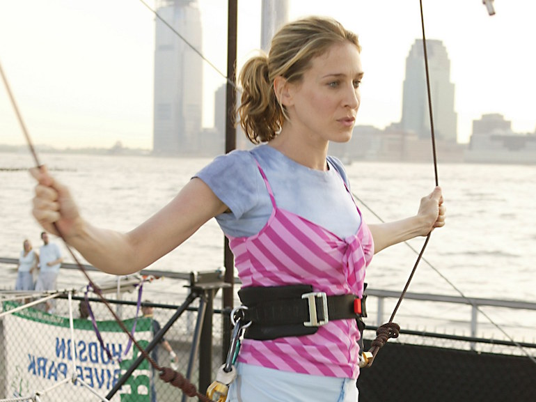 Sarah Jessica Parker maglietta rosa