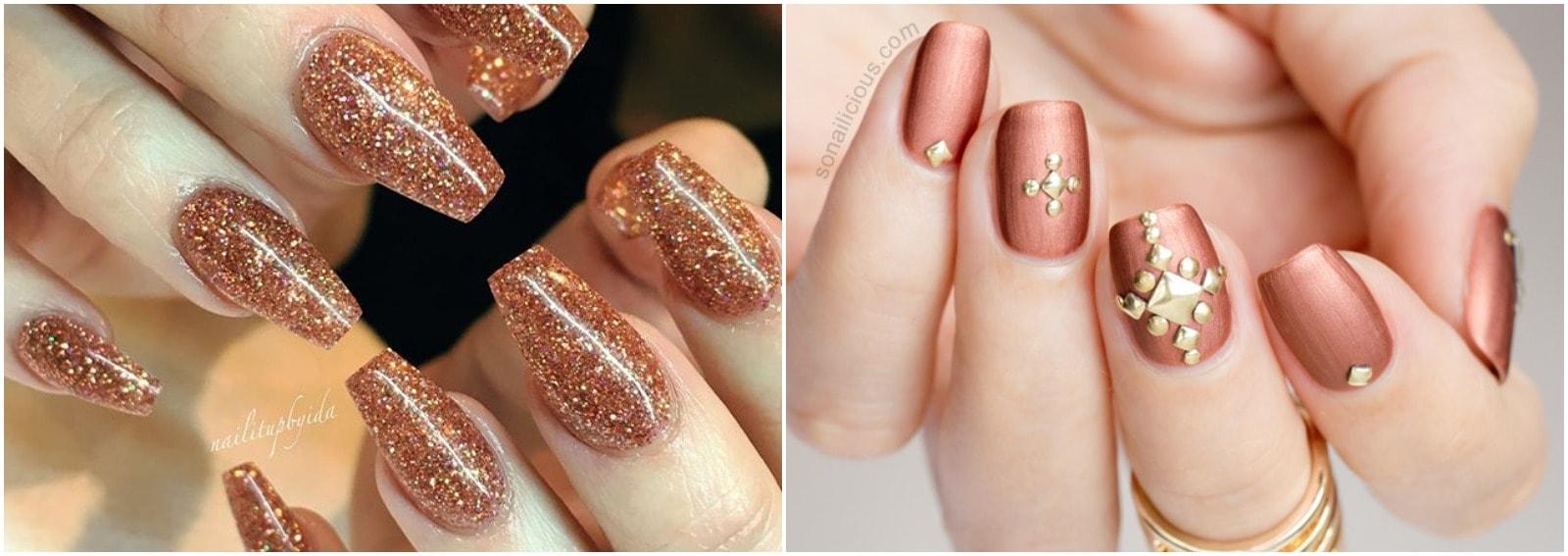 bronze nails nail art bronzo cover desktop