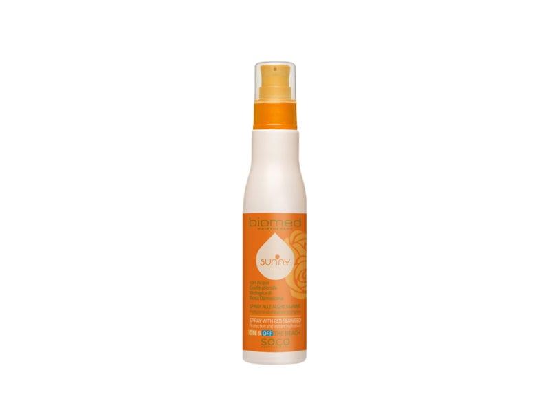 capelli-in-vacanza-come-proteggerli-dai-danni-di-cloro-salsedine-e-sole-Biomed_LineaSunny_Spray