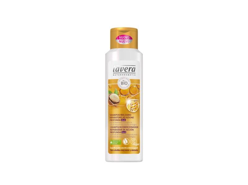 capelli-in-vacanza-come-proteggerli-dai-danni-di-cloro-salsedine-e-sole-LAVERA – SHAMPOO BALSAMO RIPARATORE capelli molto secchi e danneggiati