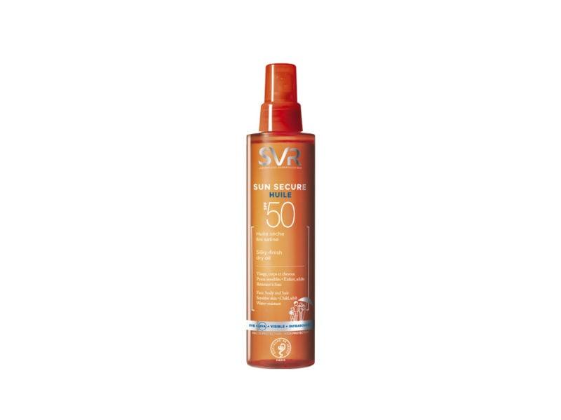 capelli-in-vacanza-come-proteggerli-dai-danni-di-cloro-salsedine-e-sole-SVR SUN SECURE_Huile_SPF 50