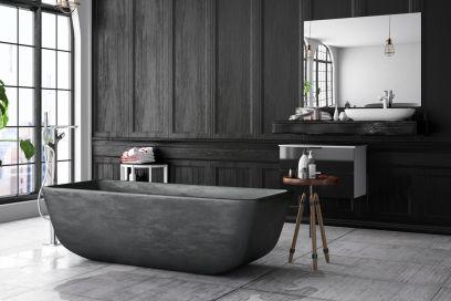 7 idee originali per arredare un bagno con il nero