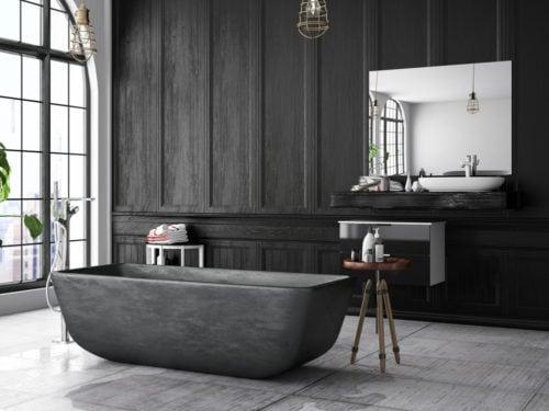 Idee Originali Per Il Bagno : 7 idee originali per arredare un bagno con il nero