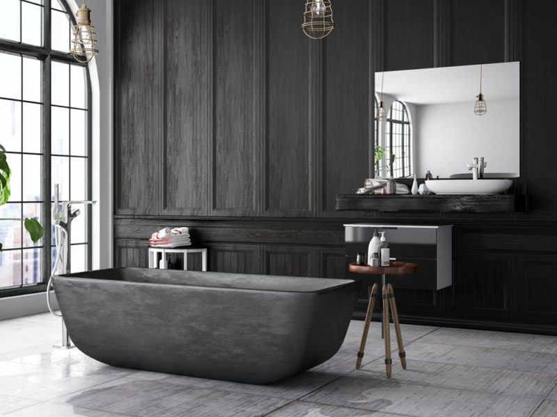 Loft Black Bathroom