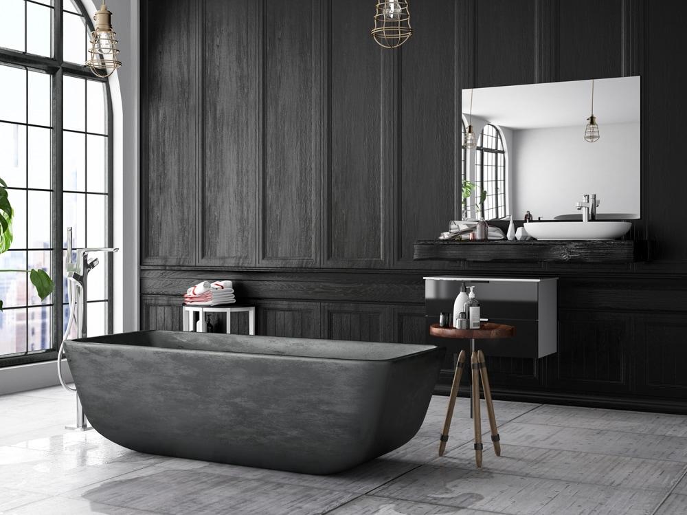 7 idee originali per arredare un bagno con il nero - Idee bagno originali ...