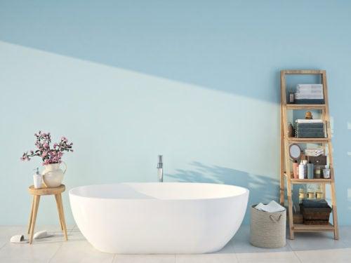 Tenda Per Vasca Da Bagno Piccola : Arredare un bagno piccolo con il colore: 7 idee da copiare