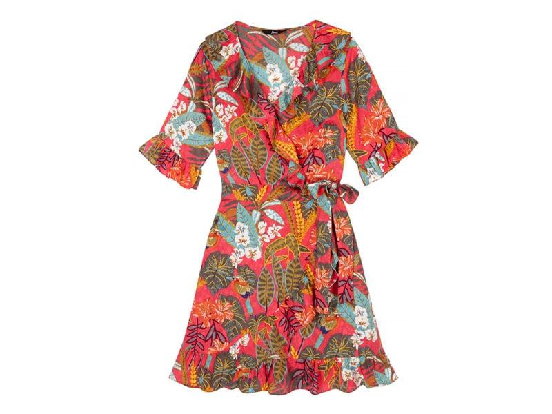 find. Floral Frill Wrap Dress £27.30 _ €27.00