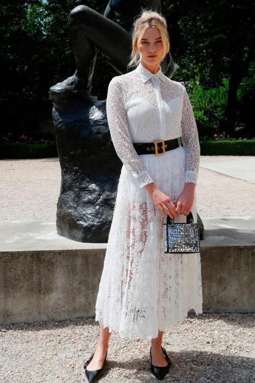 Il L'abito Copiare Chic Da Bianco Look Di Pizzo In Karlie Kloss q6BqgwF