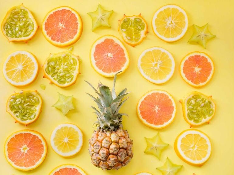 pompelmo ananas frutta (mobile)