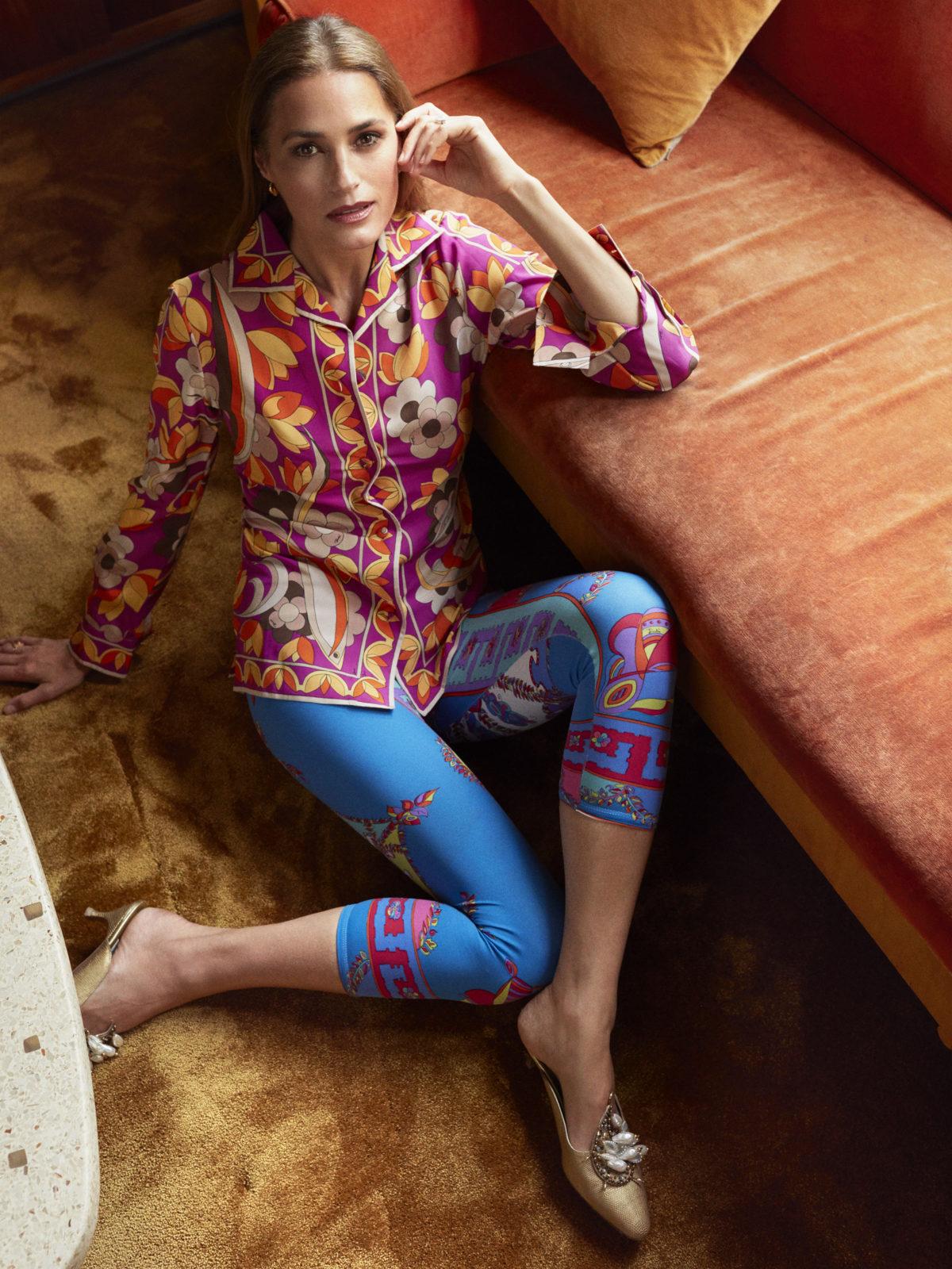 yasmin pucci leggings + shirt