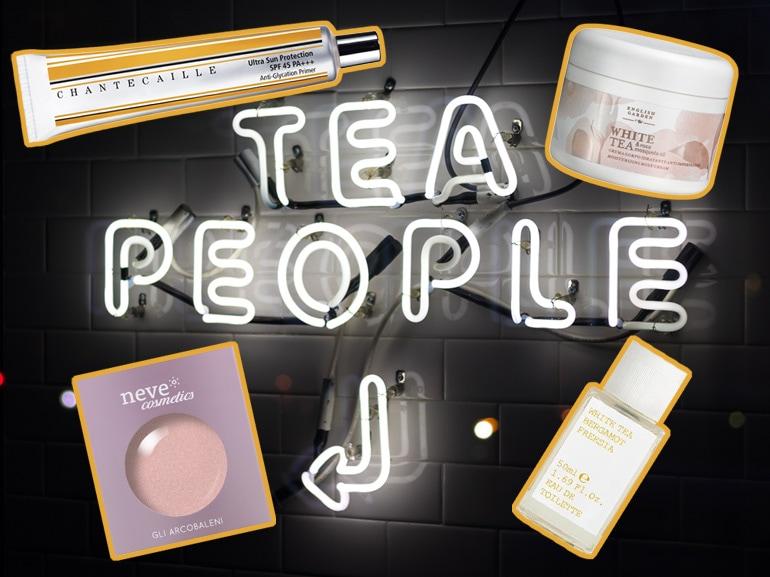 MOBILE té bianco prodotti di bellezza al the profumo make up creme