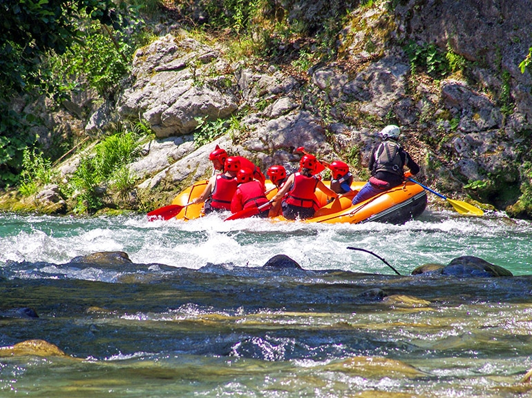 rafting fiume