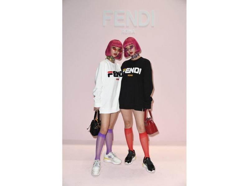 Amy-and-Aya-(Amyaya)-@-FENDI-WSS19-Fashion-Show