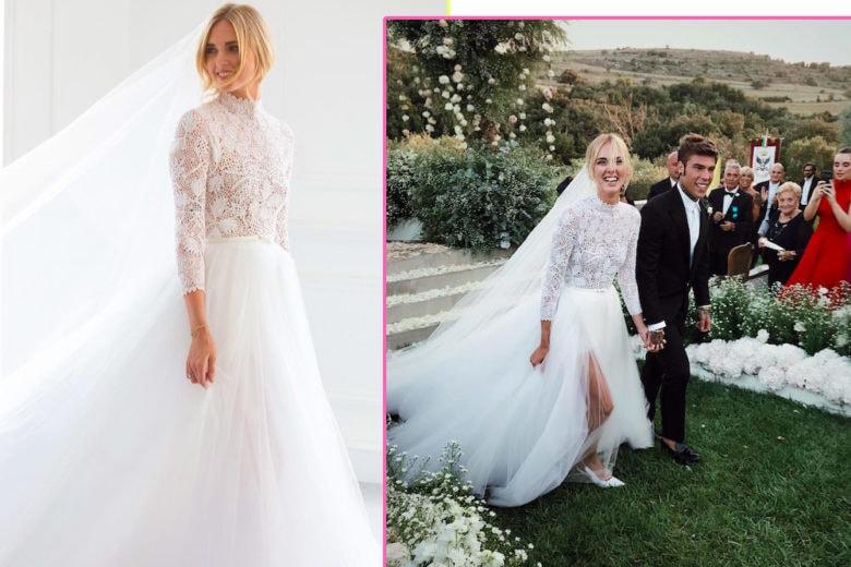 Matrimonio Ferragni-Fedez: ecco l'abito da sposa di Chiara