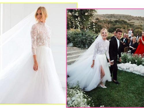 3f842716893d Matrimonio Ferragni e Fedez  l abito da sposa e i look degli invitati