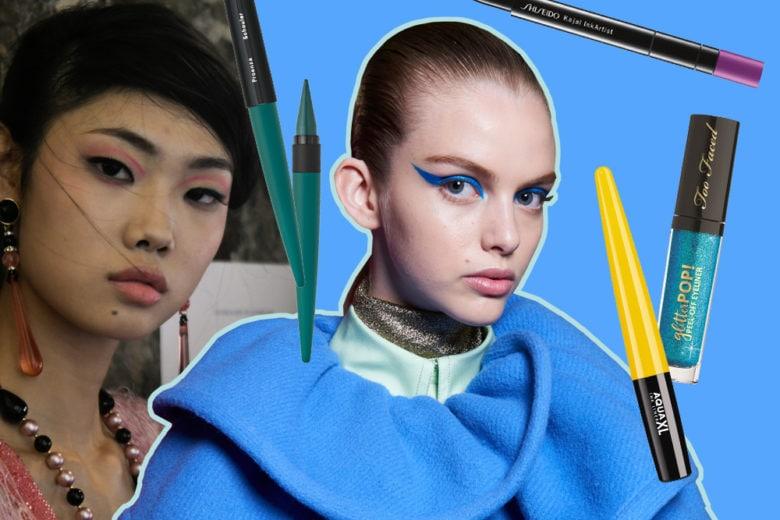 Eyeliner fluo: occhi colorati per l'autunno
