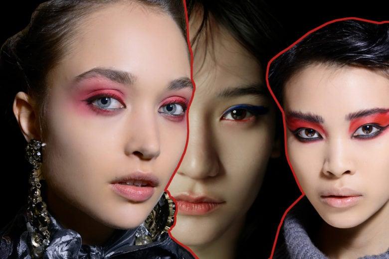 Trucco occhi rosso: la tendenza make up on fire per l'autunno inverno