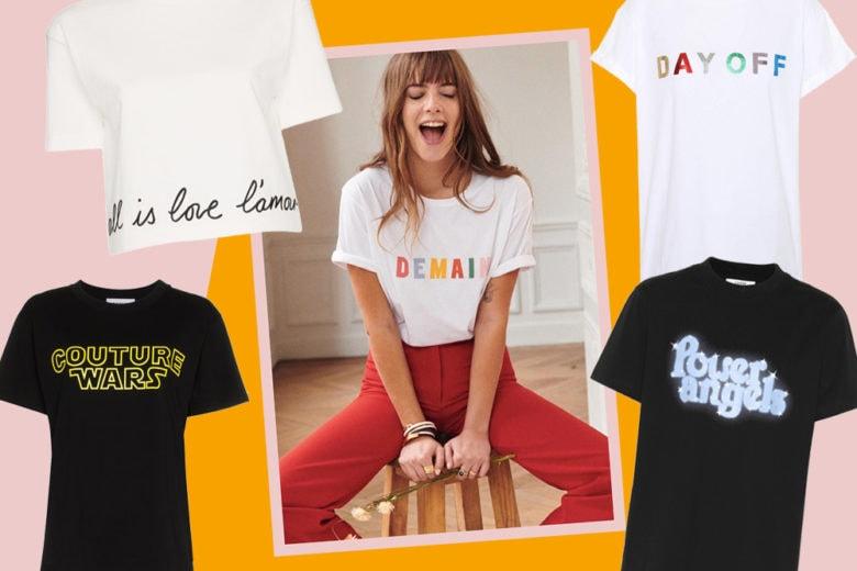 T-shirt con le scritte: 10 modelli da mettere subito in wishlist