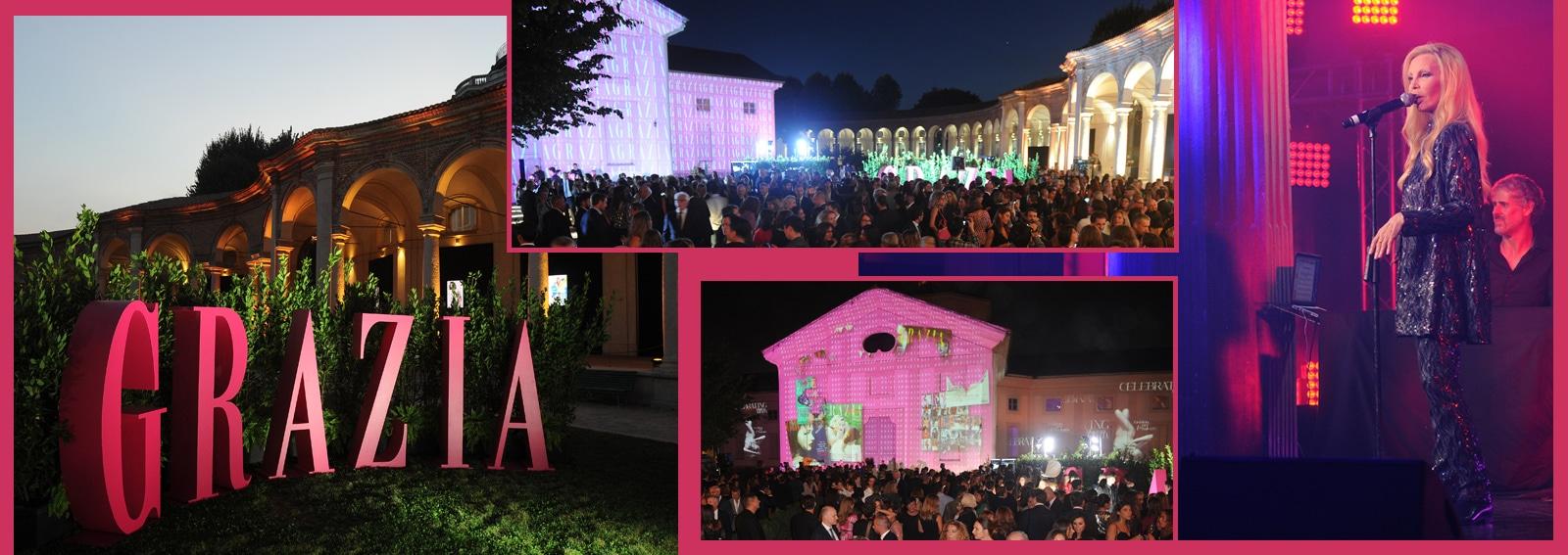 Festa 80 anni Grazia Rotonda della Besana Milano compleanno fashion magazine DESK
