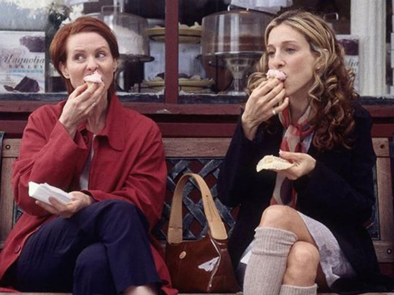 Miranda e Carrie cupcake