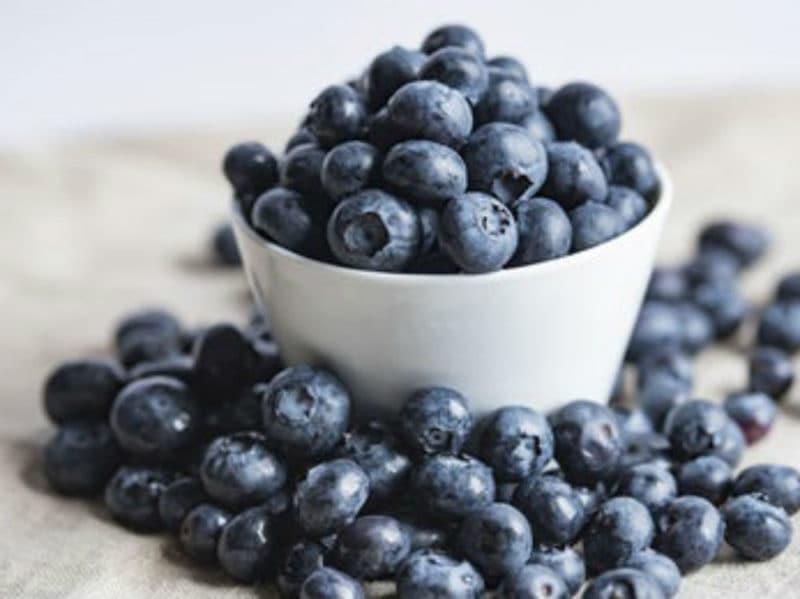Mirtilli frutta bowl