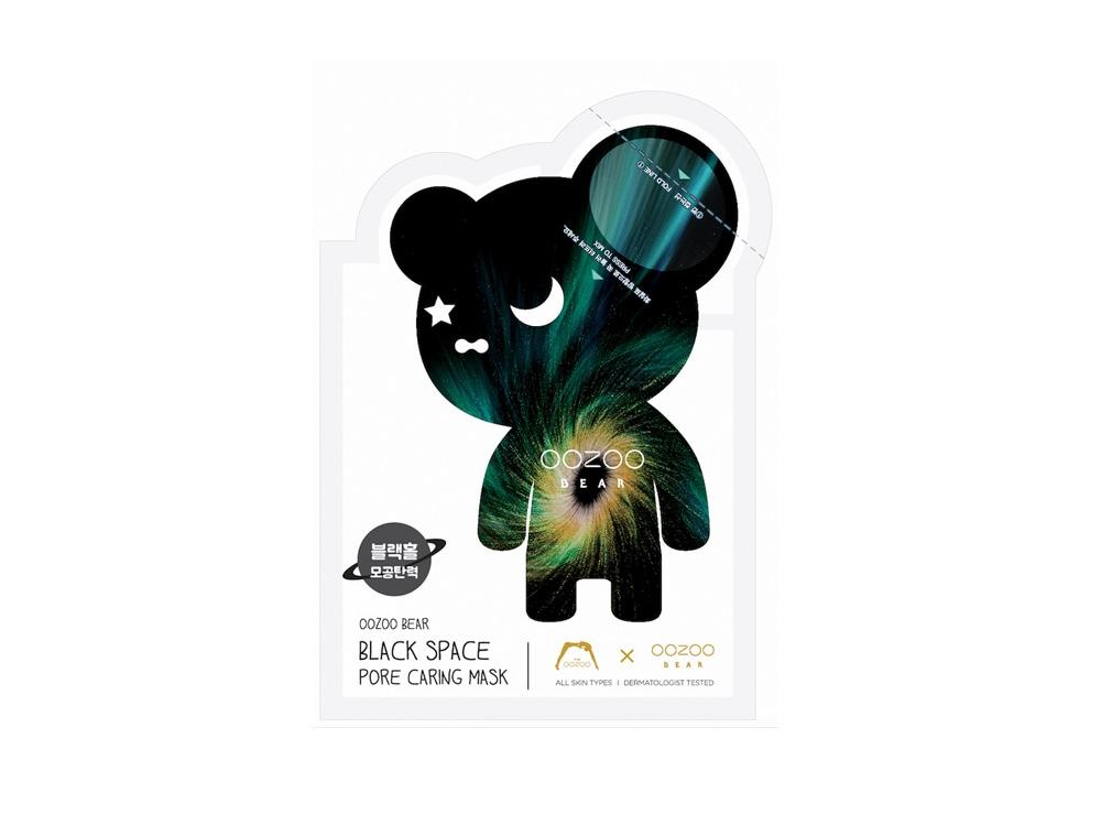 The Oozoo_BLACK SPACE Bear Pore Caring Mask