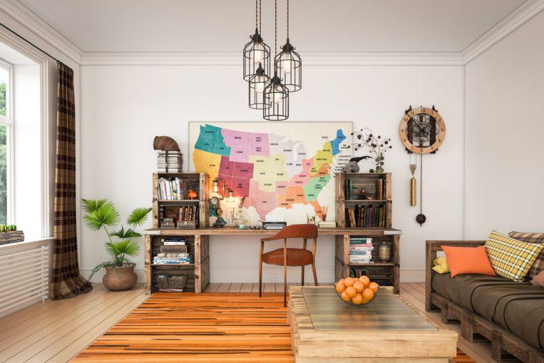 8 idee originali per decorare la casa con le mappe