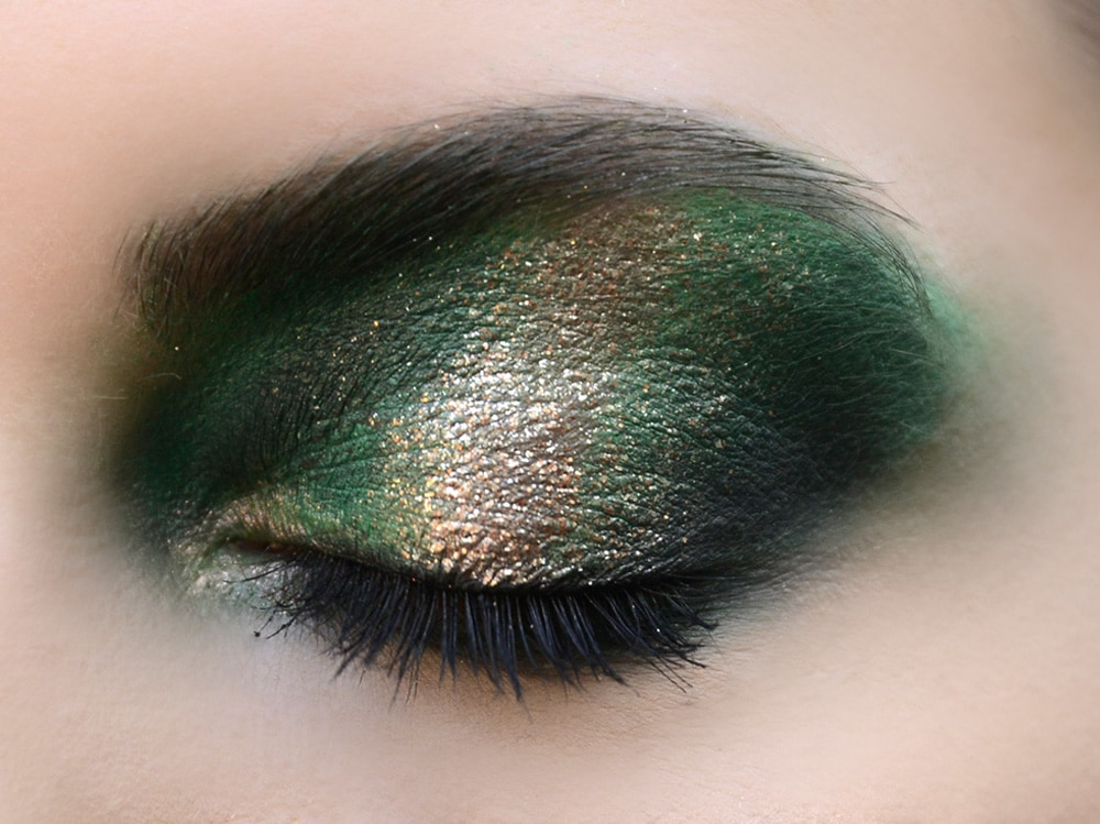 metal eyes trucco occhi metallico autunno inverno 2018 2019 (2)