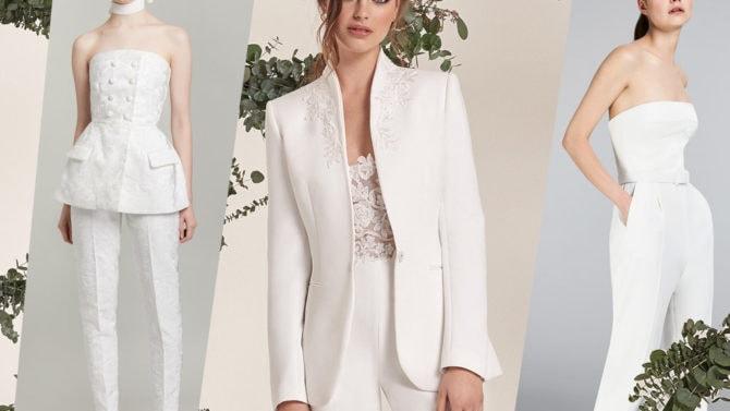 Abiti Da Sposa 2018 Trackidsp 006.Tailleur E Completi Da Sposa Con Pantaloni Le Tendenze Per Il 2019