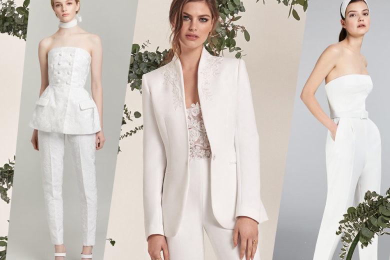 Jumpsuit, tailleur e pantaloni per spose moderne