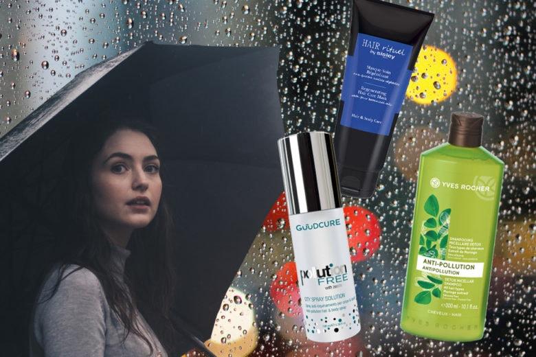 Come proteggere i capelli da vento pioggia e umidità dai danni dell'inverno tra vento e pioggia