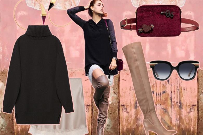 Come indossare i cuissardes di giorno? Prendete spunto da Miriam Leone