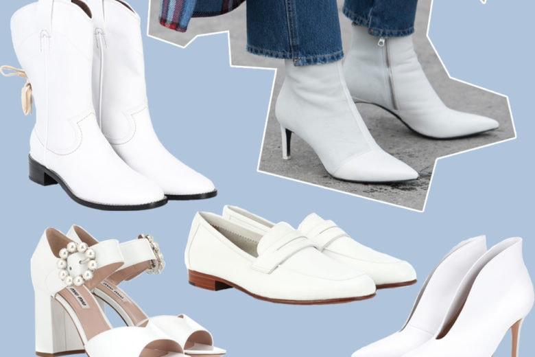 Le scarpe must dell'inverno sono bianche