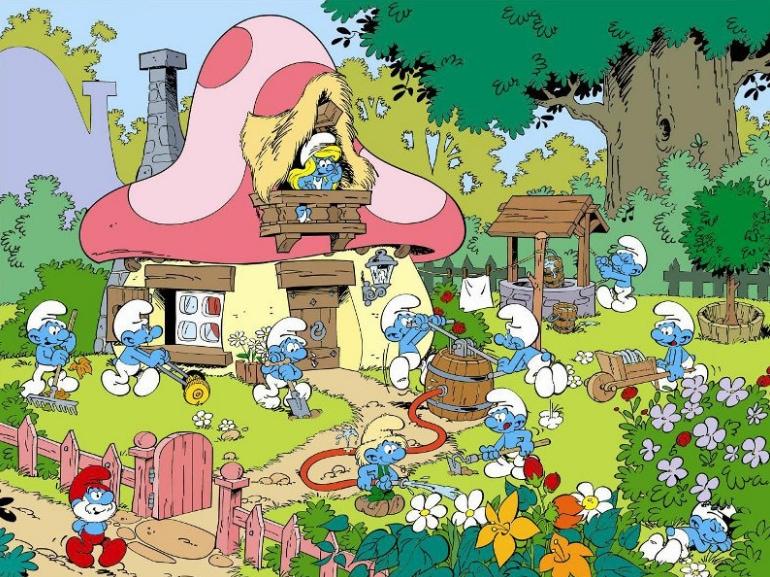 Il meraviglioso mondo dei puffi tante avventure 60 anni compleanno Puffi