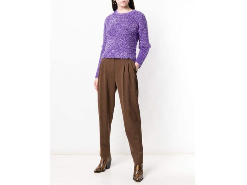 alberta-ferretti-pantaloni-marroni-farfetch