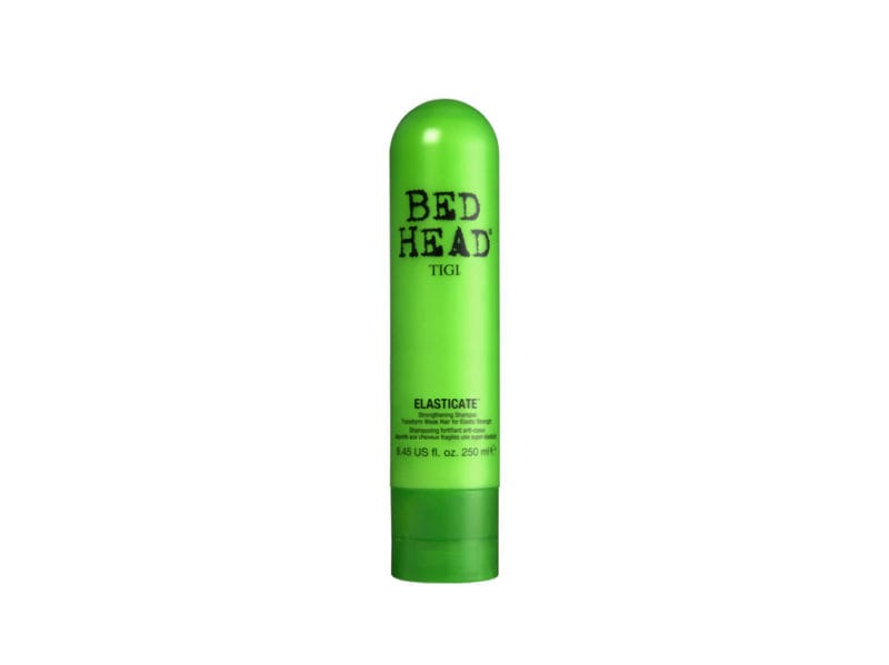 capelli-come-proteggerli- dai-danni-dellautunno-tra-vento-e-pioggia-Bed Head by TGI Elasticate Shampoo