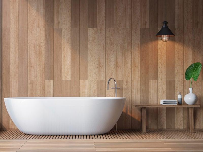 Modern contemporary bathroom 3d rendering image