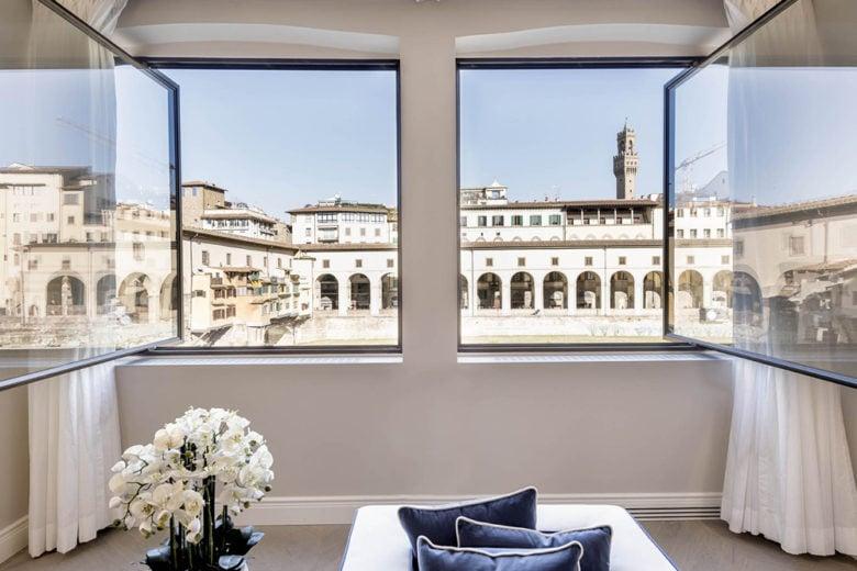 Firenze, una residenza di charme con vista su Ponte Vecchio