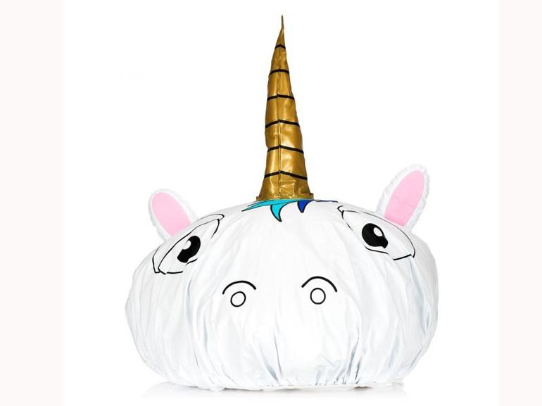 cuffia da doccia unicorno