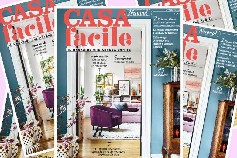 In edicola il nuovo CasaFacile, il magazine che arreda con te