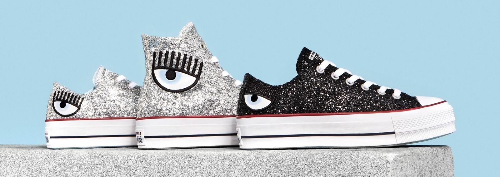 Converse x Chiara Ferragni: la mini collezione di sneakers glitterate