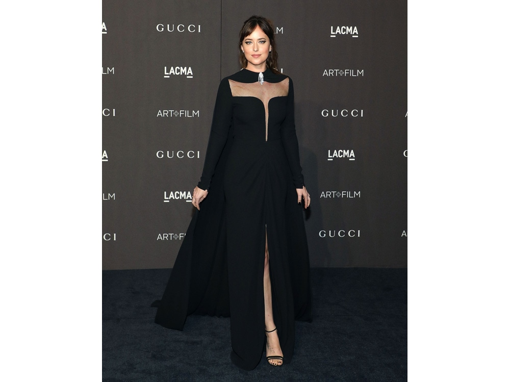 Dakota-Johnson-in-Gucci-getty