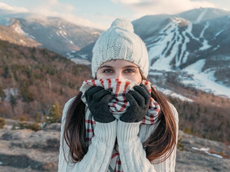Donna freddo cappello sciarpa ( Cover mobile)