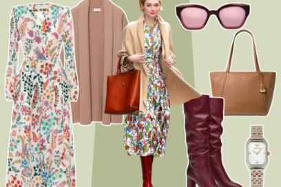 Abito midi + stivali: il mix di Elizabeth Debicki per noi è un sì!